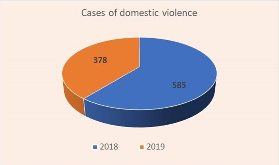 According to the police in 2019 378 cases of domestic violence were investigated in Armenia